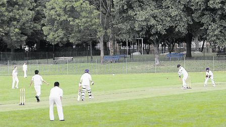 A game in progress at Wray Crescent