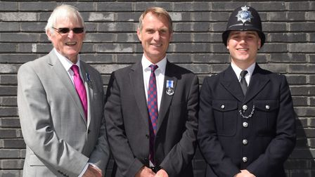 Norman, Andy and Frazer Briers. Picture: Met Police