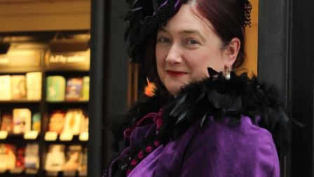 Charlotte Walker as Nelly Power at Waterstones in Islington Green. Picture: Shanei Stephenson-Harris