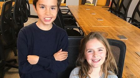 Harry McAllester and Pippa Jeffers, who set up a magazine for ten-year olds. Picture: Pernilla Holme