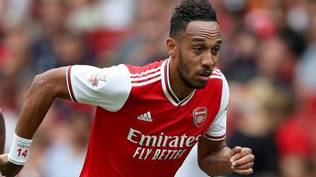 Arsenal's Pierre-Emerick Aubameyang during the Emirates Cup match at the Emirates Stadium, London.