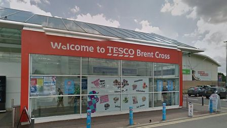 The fraudster touted for victims in the car park of Brent Cross' Tesco store. Picture: Google
