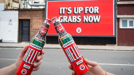 Camden Town Brewery is Arsenal Football Club's new official beer partner. Picture: Camden Town Brewe