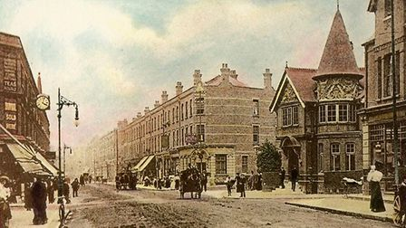 Willesden Green Library and the High Road around 1900. Picture: Brent Archives