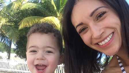 Christel was stabbed outside her home while pushing her son, 3, in his buggy. Picture: Supplied