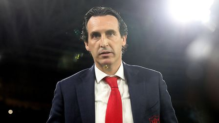 Arsenal manager Unai Emery during the UEFA Europa League quarter final second leg match at the San P
