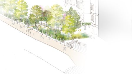 An artist's impression of the Archway Campus plans. Picture: Peabody