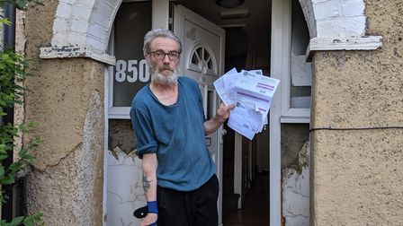 David George Strong who has been told to live on £16 a month. Picture: Sam Volpe