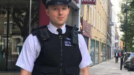 Insp Thomas Ashley leads all Islington's safer neighbourhood teams. Picture: Lucas Cumiskey