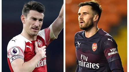 Arsenal's Laurent Koscielny and Carl Jenkinson. Picture: PA