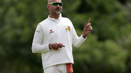 Captain Hiren Desai gives out instructions in the field for Crouch End (pic: Gavin Ellis/TGS Photo).
