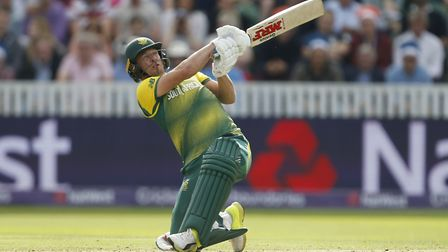 South Africa's AB De Villiers hits out (pic Paul Harding/PA)