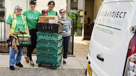 Delivery of food from The Felix Project ready to prepare for lunch at St Peter's Project. Picture: G
