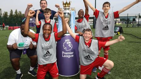 Arsenal in the Community youngsters at the Premier League and BT's pan-disabiilty festival, hosted b