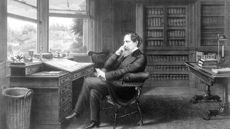 Charles Dickens, who sat so long writing his books, he visited St Mark's Hospital. Picture: Charles