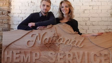 Tommy Corbyn and Chloe Kerslake-Smith will soon open their first of its kind National Hemp Service
