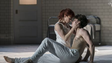 Cordelia Braithwaite and Paris Fitzpatrick in Romeo and Juliet. Picture: Johan Persson.