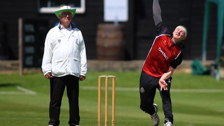 Max Harris of North Middlesex helped his team defeat Richmond in the T20 Cup earlier this year (pic: