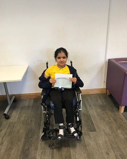 Krinal Dhiru, a pupil at Whitefield School in Cricklewood