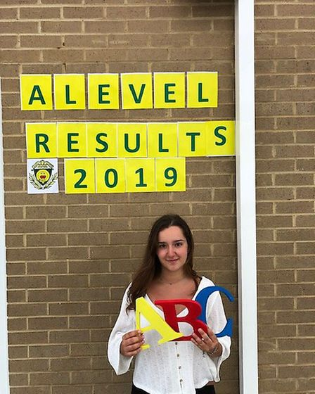 Iona Papa celebrates getting his A-levels at St Aloysius College. Picture: St Aloysius College