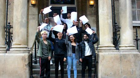 Central Foundation Boys' School A-level results day 2019. Picture: Central Foundation Boys' School