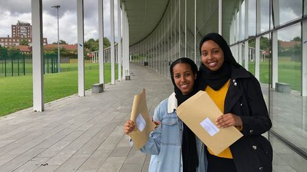 Nejma and Sumeya received Distinctions in their health & social care BTEC diplomas. Picture: Capital