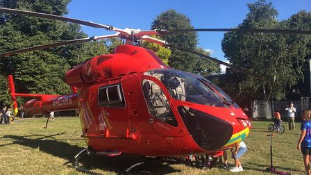 An air ambulance was deployed after two cars collided in the Mildmay Park area on September 1, 2019.