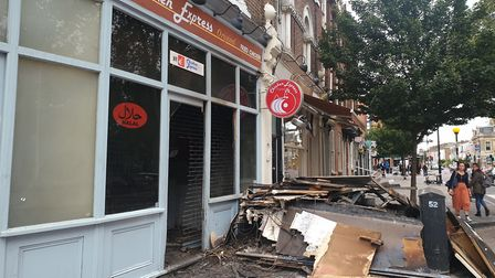 Chicken Express in Newington Green where there was a fire in the early hours. Picture: Harry Taylor