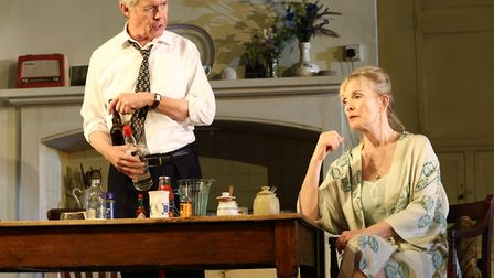 Alex Jennings and Lindsay Duncan as Diana in Hansard at the National Theatre picture by Catherine As