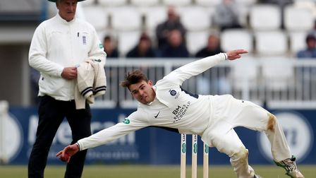 Middlesex's Max Holden catches the ball (pic: Bradley Collyer/PA Images).