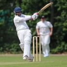 Hasnain Ali of Highgate pulls the ball in the Middlesex County Division Two (pic: George Phillipou/T