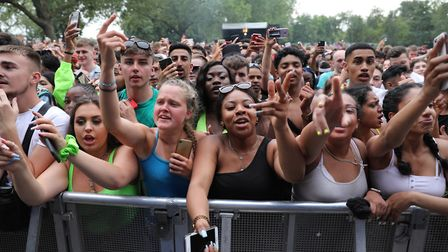 Festivalgoers at Wireless Festival. Picture: Isabel Infantes/PA