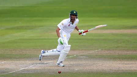 Pakistan's Mohammed Hafeez top scored for Middlesex against Hampshire (pic Richard Sellers/PA)