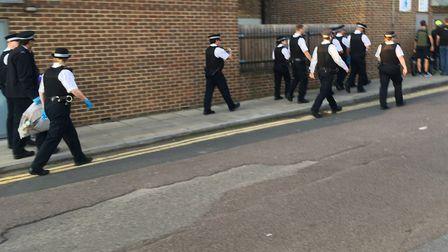 Islington Police raided two properties in Quill Street on June 22, 2019. Picture: Lucas Cumiskey