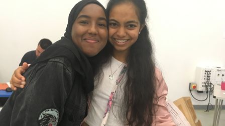 Ark Elvin Academy pals Alisha Patel and Asha Abdirahman 'surprised' themselves getting 9s among thei