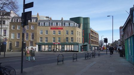 An artist's impression of how the theatre could look from Upper Street. Picture: Foster Wilson Archi
