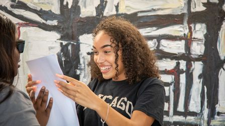 Nina Thompson stunned by her GCSE results at Queen's Park Community School. Picture:Jonathan Goldber