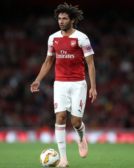 Arsenal's Mohamed Elneny in Europa League action (pic Nick Potts/PA)