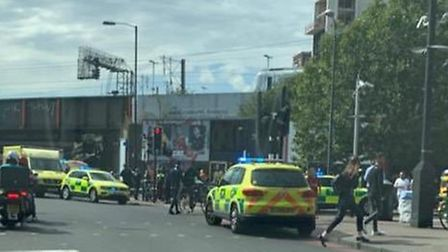 A man was slashed and robbed in Seven Sisters Road this afternoon. Picture: @999London