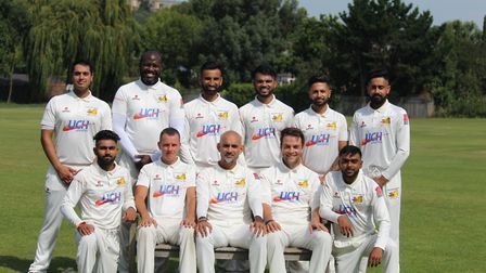 The Middlesex League Division Two title winning Crouch End side. Picture: Bhavik Patel