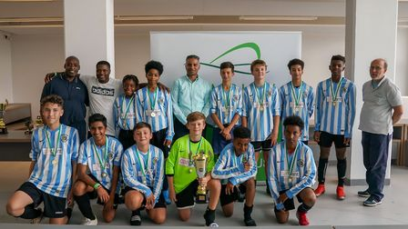 The Brent Schools FC team that won the u-13 competition at the Wembley Super League. Picture: WSL/Za