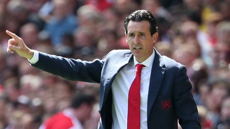 Arsenal manager Unai Emery during the Premier League match at The Emirates Stadium, London. Picture: