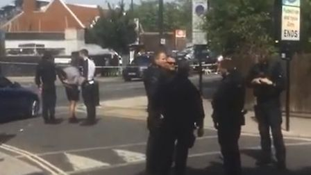Armed police arrested someone in Drayton Park this afternoon. Picture: Supplied