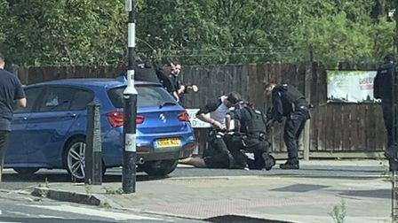 A man was arrested in Drayton Park today. Picture: Supplied