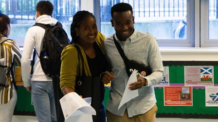 GCSE results day 2019 at St Aloysius' College, Archway. Picture: Joshua Thurston