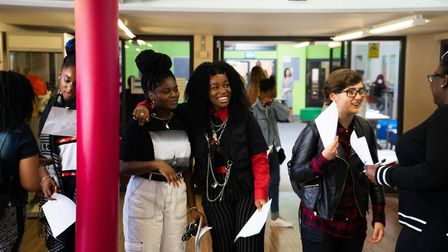GCSE results day at City of London Academy Highgate Hill. Picture: Joshua Thurston