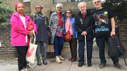 Service users of Drovers Day Centre chanted: 'save the Drovers', in opposition to Islington Council'