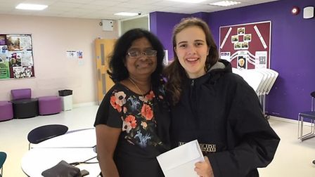 Marisa Correia who will study veterinary science in Portugal pictured with Miriam Anthony, Head of S