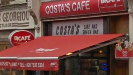 Costa's Cafe in King's Cross Road. Picture: Google Maps