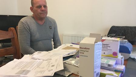 Disabled Andrew William-Coleman has had his PIP mobility payments stopped by the DWP. Picture: Natha